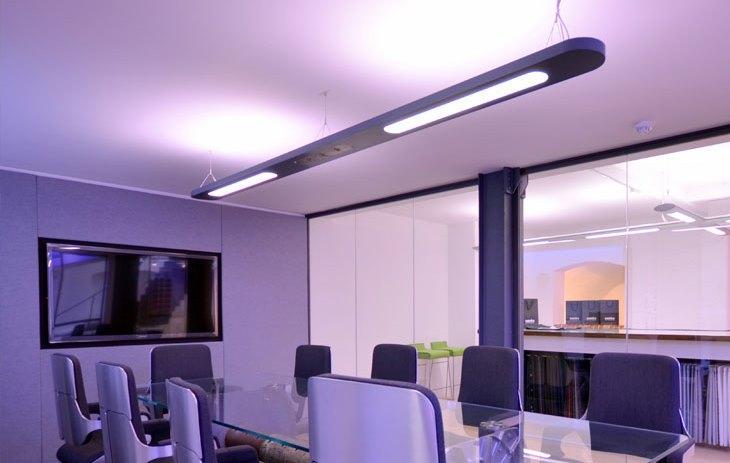 Rooms: Stylish Office RGB Lighting.