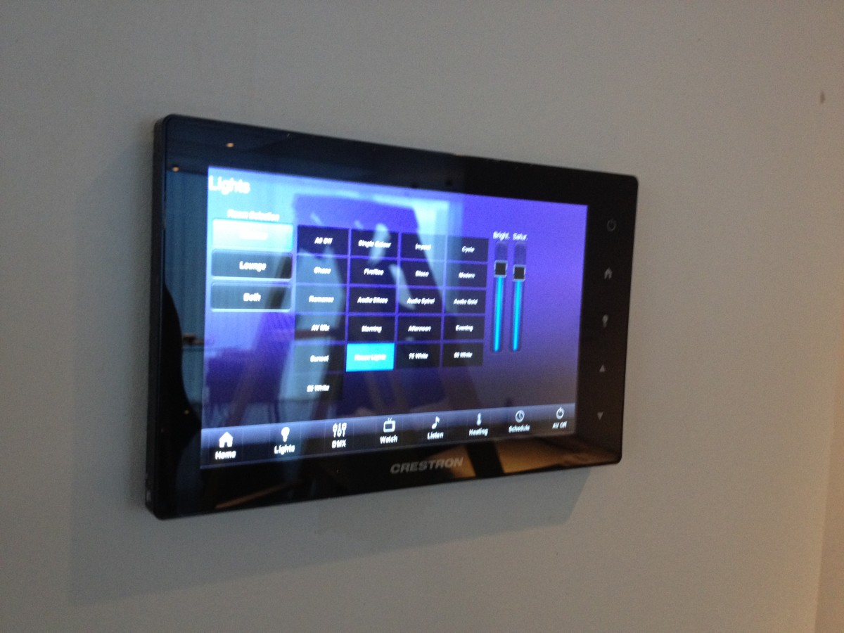 crestron control for ambx light scene engine