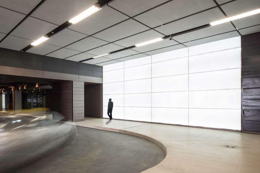 Illuminated Polar White Wall Cladding
