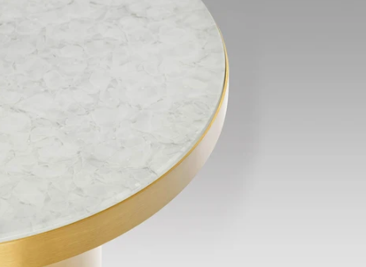 Recycled Glass in Brass trim
